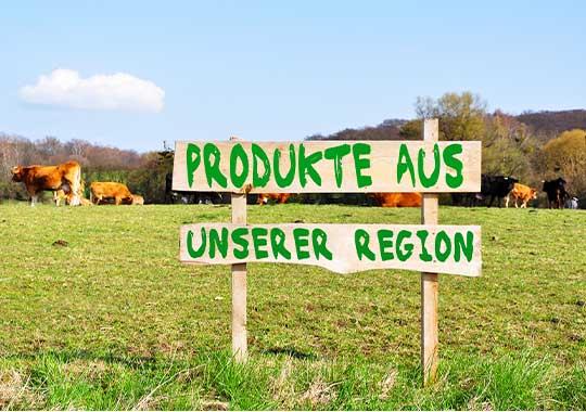 Regionale Produkte aus der Landwirtschaft