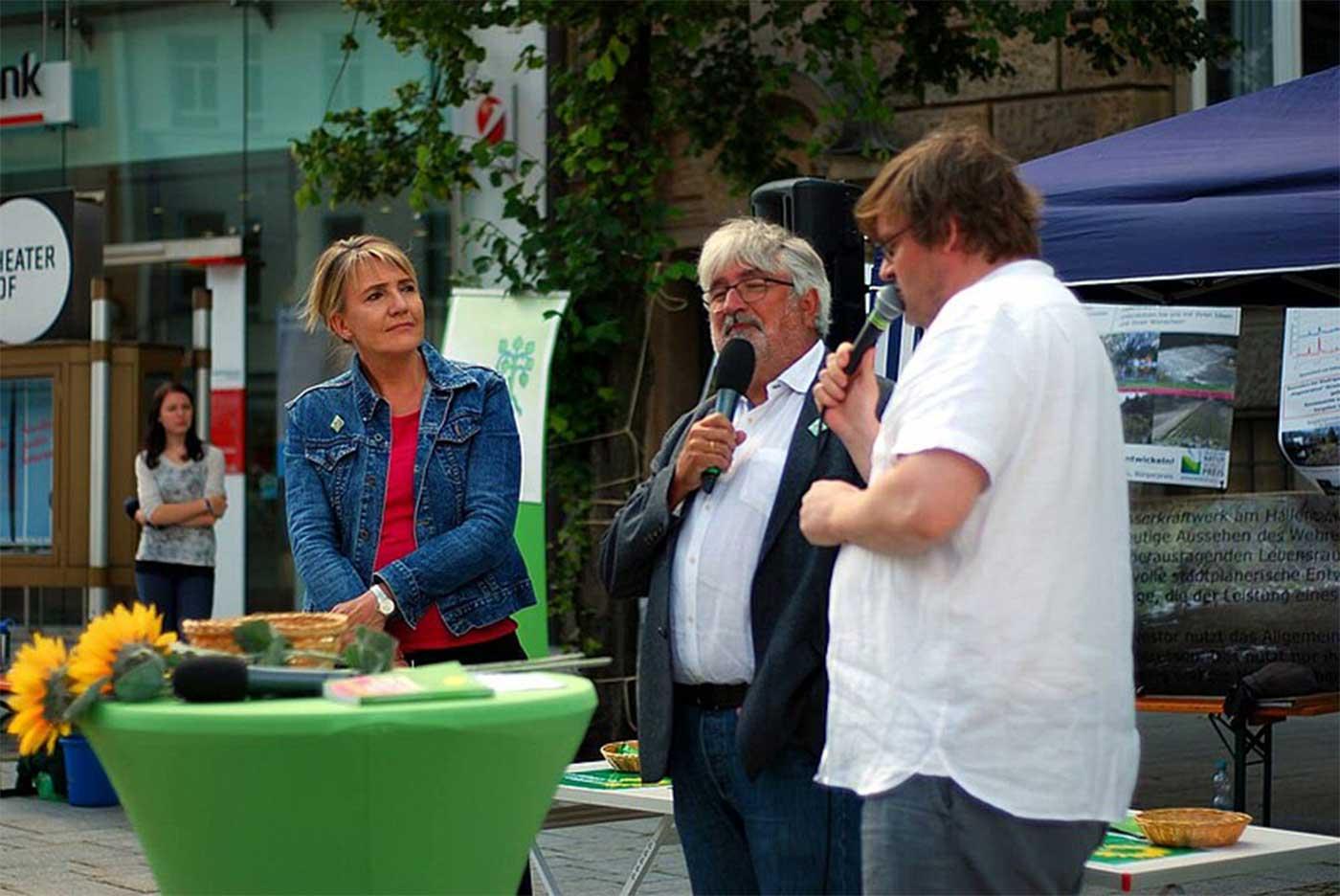Wahlkampfauftakt in Hof mit Simone Peter und Dr. Klaus Schrader