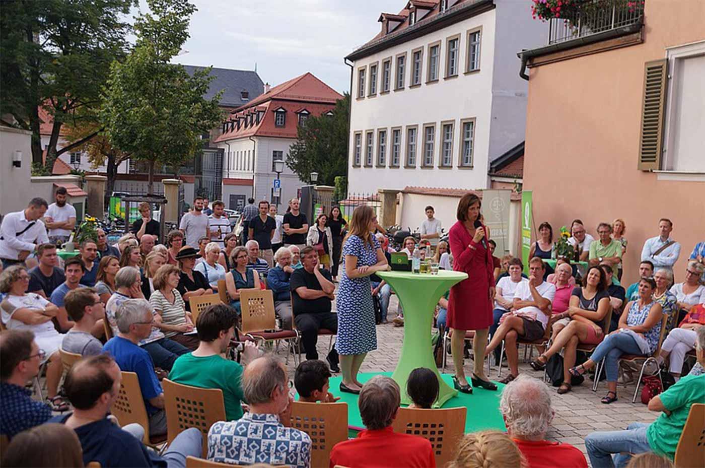 Polit-Dialog mit Katrin in Bamberg